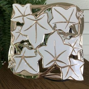 Other - 🍃TRIVET OR WALL HANGING FALL LEAF IVORY & GOLD🍃